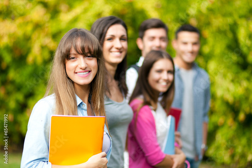 Smiling students group