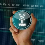 electronic data China Yuan Renminbi symbol poster
