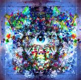 яркий абстрактный  фон - 65473371