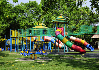 Children Playground At Taman Tengku Anis, Kelantan