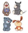 Set of stuffed toys cartoon