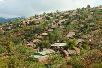 Burmese refugee camp near Mae Sot, Tak Province, Thailand.