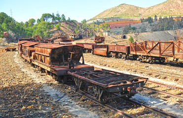 Abandoned railway equipment, mines of Rio Tinto, España