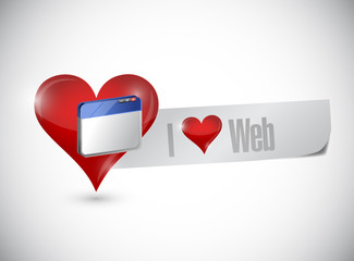i love web sign illustration design