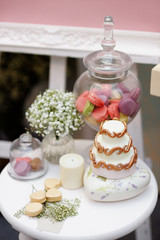 Elegant sweet table on wedding or event party
