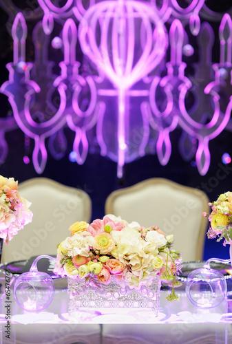 Papiers peints Table preparee Table set for wedding reception