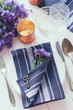 canvas print picture - home table setting