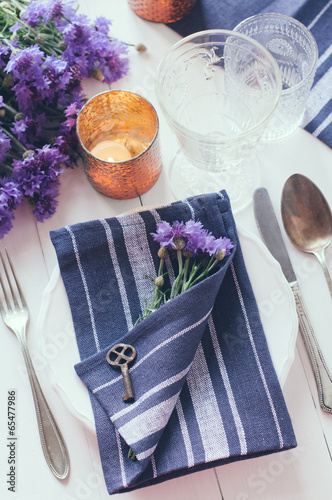 canvas print picture home table setting