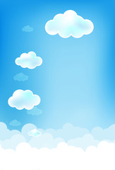 Cloud and blue background 002
