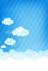 Cloud and blue background 003