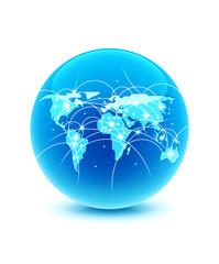world globe connection