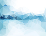 Fototapety Abstract triangular blue background