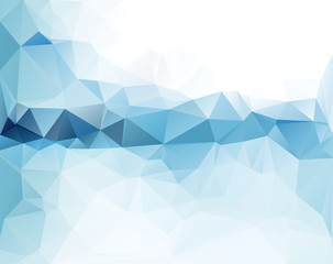 Abstract triangular blue background