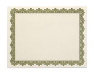 Large Blank Certificate