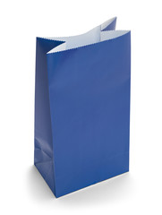 Open Blue Bag