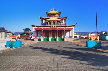 Sockshin-dugan - main temple of the Ivolginsky Datsan, Buryatia