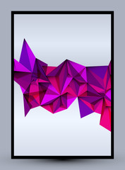 Beauty & fashion concept abstract geometric style background