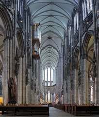 Interior of Cologne Cathedral, Germany