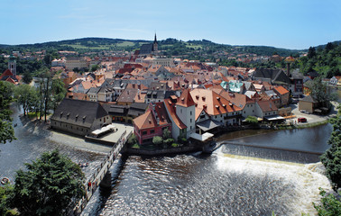 View on the Cesky Krumlov, Czech Republic