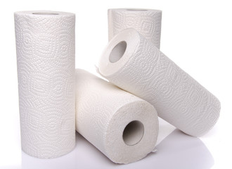 Rolls of paper towels