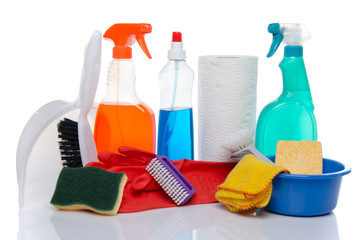 Cleaning  products with cleaning material