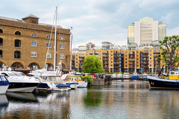 St Katharine's Dock. London, England