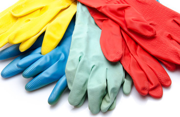 Dish gloves in different colors
