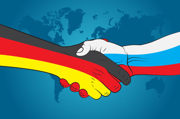 Handshake Germany and Russia