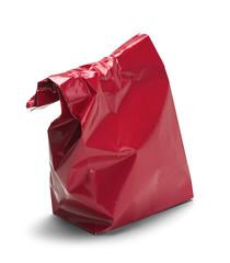 Wrinkled Red Bag