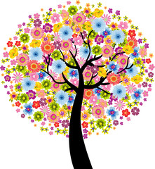 Colorful Flower Tree