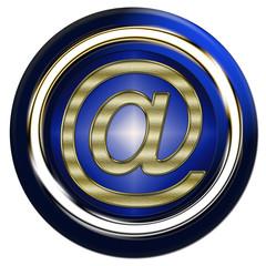 socle bouton arobas,at, écrire courriel web