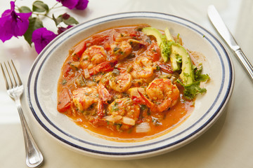 Mexican style cooked shrimp, camerones picados