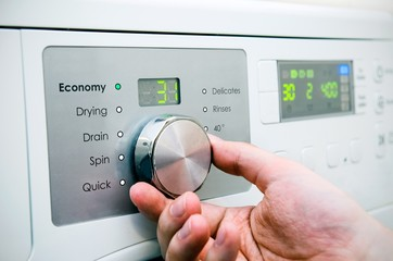 Modern washing machine panel