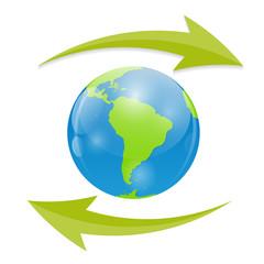 Globe Icon Vector Illustration for Your Design