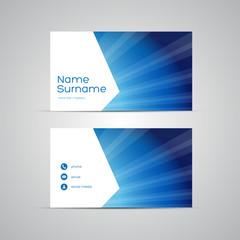 Modern Business-Card Set vector blue