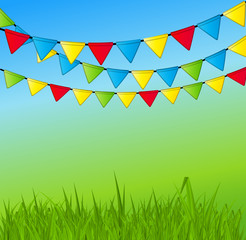 Party Flag Background Vector Illustration