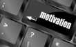 motivation button on computer keyboard key