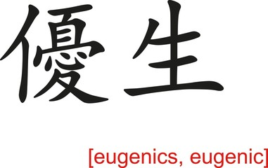 Chinese Sign for eugenics, eugenic