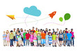 Large Group of Multiethnic Children