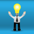 Businessman bright idea.EPS10
