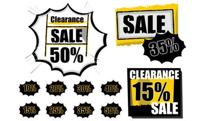 Sale tags clearance shopping