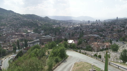 Panorama of Sarajevo with Gazi Husrev mosque