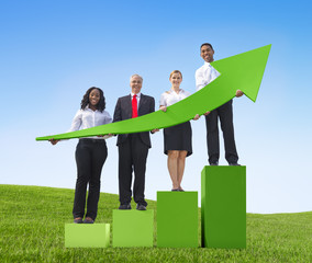 Business success growth graph