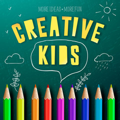 Concept of creative education for kids