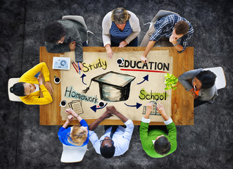 Group of People with Education Concept