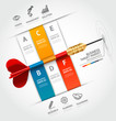 Business concept target marketing dart idea.