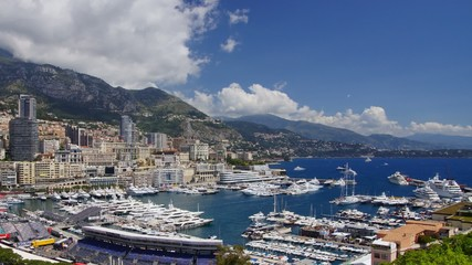 Monaco harbor, time-lapse