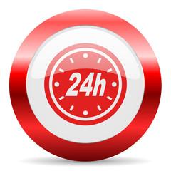 24h glossy web icon