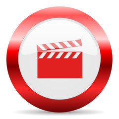 video glossy web icon