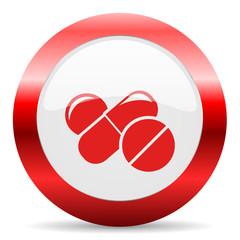 medicine glossy web icon